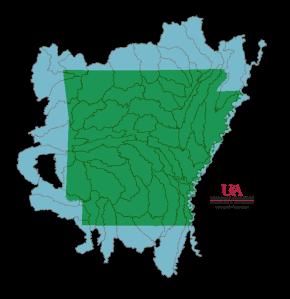Arkansas, HUC 8 Watersheds
